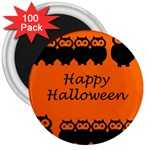 Happy Halloween - owls 3  Magnets (100 pack) Front