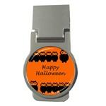 Happy Halloween - owls Money Clips (Round)  Front