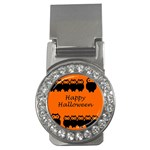 Happy Halloween - owls Money Clips (CZ)  Front