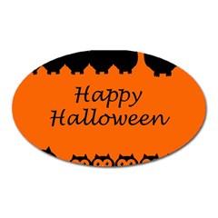 Happy Halloween   Owls Oval Magnet by Valentinaart