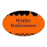 Happy Halloween - owls Oval Magnet Front