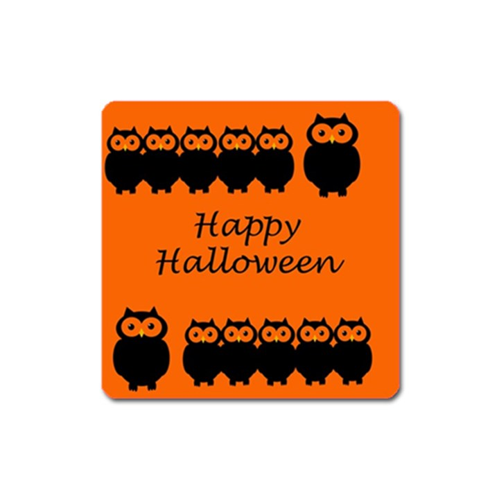 Happy Halloween - owls Square Magnet
