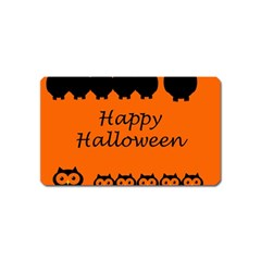 Happy Halloween   Owls Magnet (name Card)