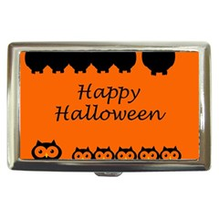 Happy Halloween   Owls Cigarette Money Cases by Valentinaart