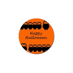 Happy Halloween   Owls Golf Ball Marker (4 Pack) by Valentinaart