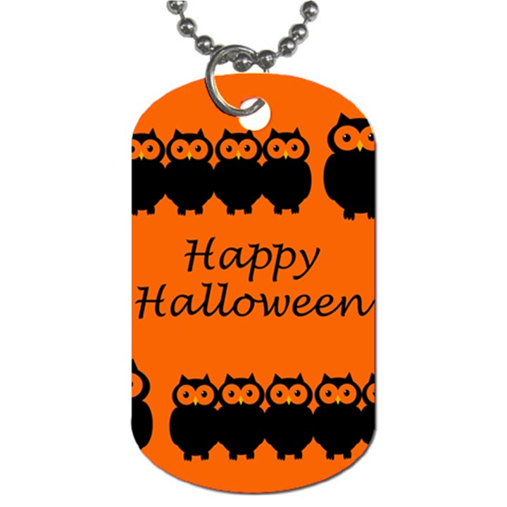 Happy Halloween - owls Dog Tag (Two Sides)