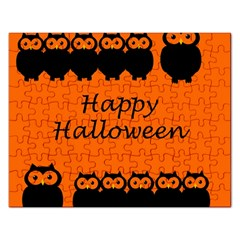 Happy Halloween   Owls Rectangular Jigsaw Puzzl