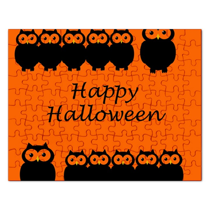Happy Halloween - owls Rectangular Jigsaw Puzzl