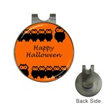 Happy Halloween - owls Hat Clips with Golf Markers Front