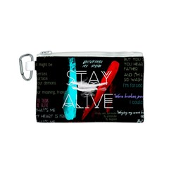 Twenty One Pilots Stay Alive Song Lyrics Quotes Canvas Cosmetic Bag (s) by Onesevenart