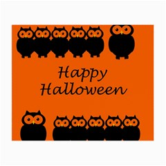 Happy Halloween   Owls Small Glasses Cloth
