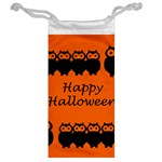 Happy Halloween - owls Jewelry Bags Back