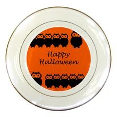 Happy Halloween - owls Porcelain Plates