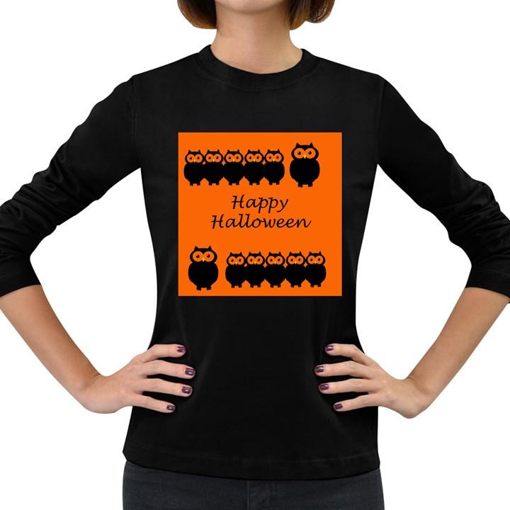Happy Halloween - owls Women s Long Sleeve Dark T-Shirts