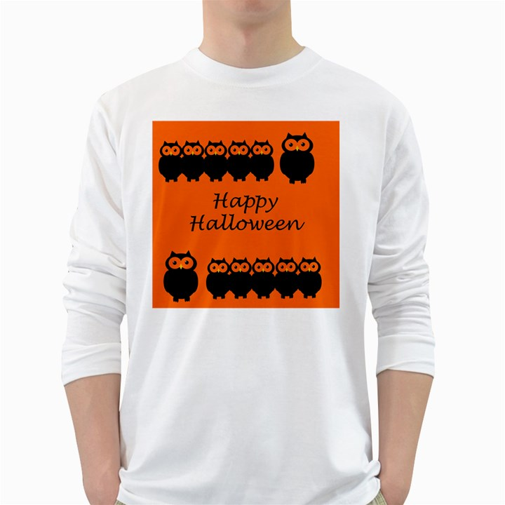 Happy Halloween - owls White Long Sleeve T-Shirts