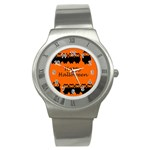 Happy Halloween - owls Stainless Steel Watch Front