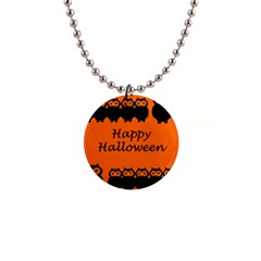 Happy Halloween   Owls Button Necklaces
