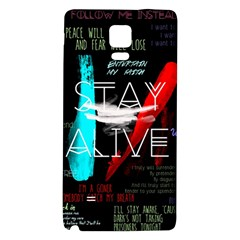 Twenty One Pilots Stay Alive Song Lyrics Quotes Galaxy Note 4 Back Case by Onesevenart