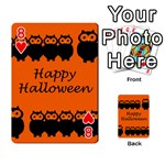 Happy Halloween - owls Playing Cards 54 Designs  Front - Heart8