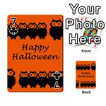 Happy Halloween - owls Playing Cards 54 Designs  Front - Club7