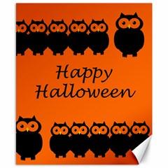 Happy Halloween - owls Canvas 8  x 10