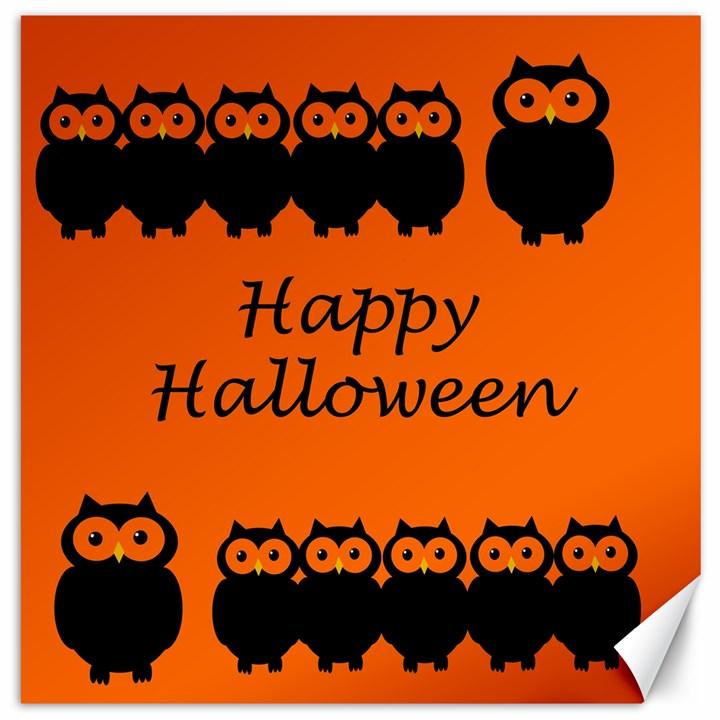 Happy Halloween - owls Canvas 12  x 12