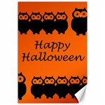 Happy Halloween - owls Canvas 12  x 18   18 x12 Canvas - 1