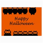 Happy Halloween - owls Large Glasses Cloth Front