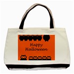 Happy Halloween - owls Basic Tote Bag (Two Sides) Back