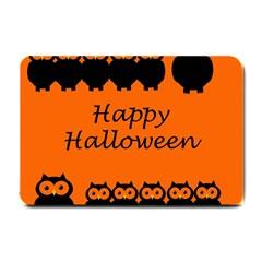 Happy Halloween - owls Small Doormat