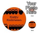 Happy Halloween - owls Multi-purpose Cards (Round)  Back 11