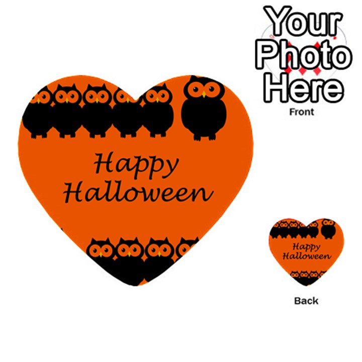 Happy Halloween - owls Multi-purpose Cards (Heart)