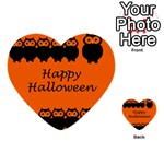 Happy Halloween - owls Multi-purpose Cards (Heart)  Front 54