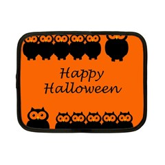 Happy Halloween   Owls Netbook Case (small)
