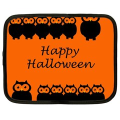 Happy Halloween   Owls Netbook Case (large)
