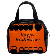 Happy Halloween   Owls Classic Handbags (2 Sides)