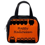 Happy Halloween - owls Classic Handbags (2 Sides) Back