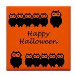 Happy Halloween - owls Face Towel Front