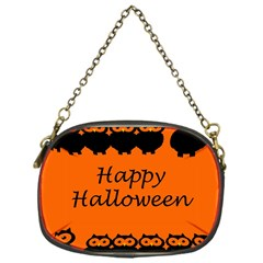 Happy Halloween   Owls Chain Purses (one Side)  by Valentinaart