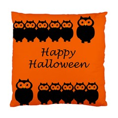 Happy Halloween   Owls Standard Cushion Case (two Sides) by Valentinaart