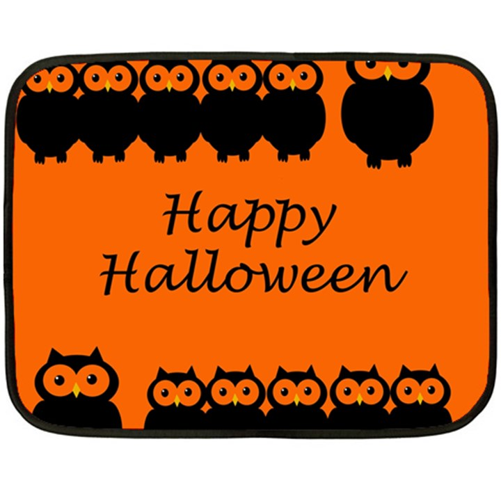 Happy Halloween - owls Fleece Blanket (Mini)
