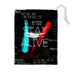 Twenty One Pilots Stay Alive Song Lyrics Quotes Drawstring Pouches (Extra Large)