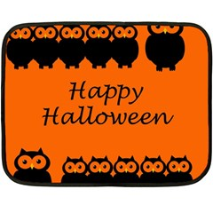 Happy Halloween   Owls Double Sided Fleece Blanket (mini)