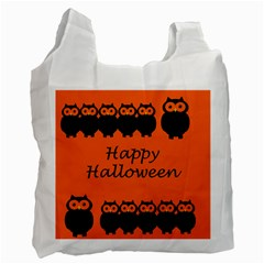 Happy Halloween   Owls Recycle Bag (one Side)