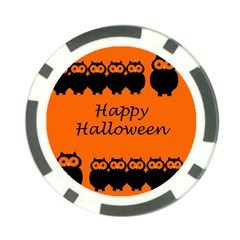 Happy Halloween   Owls Poker Chip Card Guards (10 Pack)
