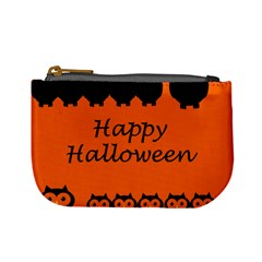 Happy Halloween   Owls Mini Coin Purses by Valentinaart