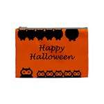 Happy Halloween - owls Cosmetic Bag (Medium)  Front