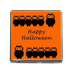 Happy Halloween   Owls Memory Card Reader (square)