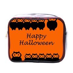 Happy Halloween - owls Mini Toiletries Bags