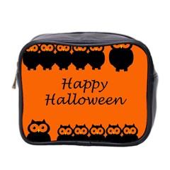 Happy Halloween - owls Mini Toiletries Bag 2-Side